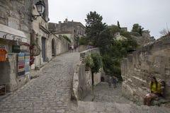 Rue de l'Église À l'Anc Mairie, Les Baux-de-Provence, France Royalty Free Stock Photo