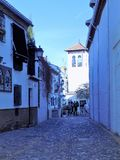 Rue de l'Albayzin-Grenade-Andalousie photos stock
