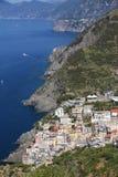 Rue de l'amour dans Riomaggiore, Cinque Terre, Italie Photos libres de droits