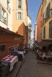 Rue de l'Église, Villefranche-sur-Mer, France Stock Images