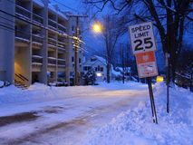 Rue de l'hiver photo libre de droits