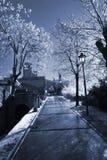 Rue de l'hiver au Saint-Marin Photo stock