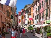 Rue 2 de l'Italie Vernazza Roma photographie stock libre de droits