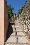 Rue de l'Arcade in Roussillon, France Royalty Free Stock Photos