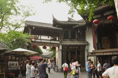 Rue de la Chine, Chengdu Photo libre de droits