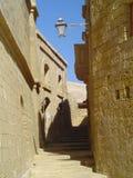 Rue de la citadelle dans Victoria, Gozo Image libre de droits