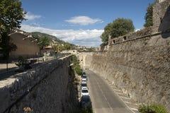 Rue de la Citadelle, Villefranche-sur-Mer, Frankrijk Royalty-vrije Stock Afbeeldingen