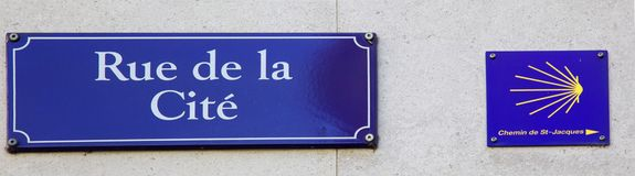 Rue de la Cite Royalty Free Stock Photos