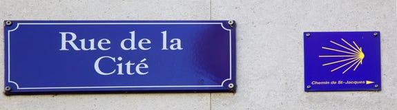 Rue de la Cite Royalty Free Stock Photos