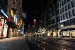 Rue de la Confederation, Genebra imagens de stock