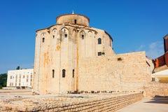 rue de la Croatie donat d'église zadar Image libre de droits