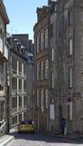 Rue de la Fosse dans le saint Malo Image libre de droits