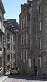 Rue de la Fosse in Saint Malo royalty free stock image