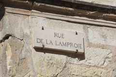 Rue de la Lamproie in Tours Stock Image