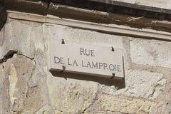 Rue de la Lamproie in Tours Stock Image