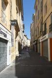 Rue de la Masse艾克斯普罗旺斯,法国 免版税图库摄影