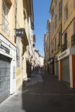 Rue de la Masse Aix-en-provence, Frankrike Royaltyfri Fotografi