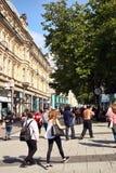Rue de la Reine, Cardiff Photos libres de droits