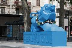 Rue de la Republique in Lyon Stock Photo