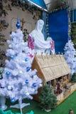 rue 2008 de la Roumanie de décoration de décembre de Noël de caransebes Photographie stock