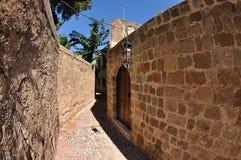Rue de la vieille ville, Rhodes Image stock