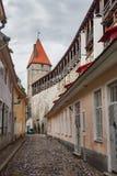 Rue de la vieille ville de Tallinn en Estonie Photos libres de droits