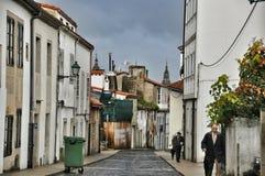 Rue de la ville espagnole de la province d'Oviedo des Asturies Images stock