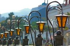 rue de lampes Photographie stock libre de droits