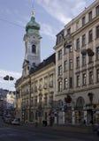 Rue de Landstrasse à Vienne image libre de droits