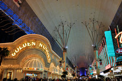 Rue de Las Vegas Fremont Photo stock