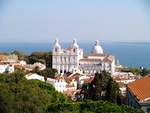 rue de Lisbonne Portugal d'église vicent Photos stock