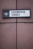 Rue de Liverpool Photos libres de droits