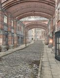 Rue de Londres, 3D CG. illustration libre de droits