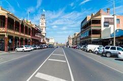 Rue de Lydiard dans l'Australie de Ballarat Photographie stock libre de droits