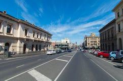 Rue de Lydiard dans l'Australie de Ballarat Image stock