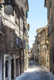 Rue de Macerata Photo stock