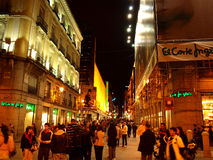 Rue de Madrid Photographie stock