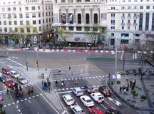 Rue de Madrid Photos libres de droits
