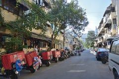 Rue de magasin de substance d'antiquité de Changhaï vieille photo stock