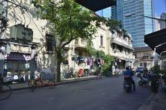 Rue de magasin de substance d'antiquité de Changhaï vieille photos stock