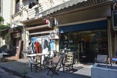 Rue de magasin de substance d'antiquité de Changhaï vieille photographie stock libre de droits