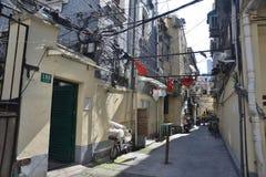 Rue de magasin de substance d'antiquité de Changhaï vieille images libres de droits