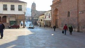 Rue de Mantas dans Cuzco Pérou banque de vidéos