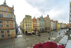 Rue de marché à terme Dlugi Targ à Danzig, Pologne Image stock