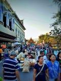 Rue de marche en Thaïlande photos stock