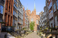 Rue de Mariacka à Danzig Photo libre de droits