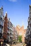 Rue de Mariacka à Danzig Photographie stock