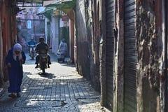 Rue de Marrakech la Médina, Maroc Images stock