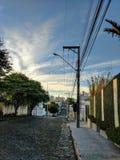 Rue de matin au Brésil Image stock