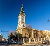 rue de Michael d'église de cathédrale de Belgrade d'archange photographie stock